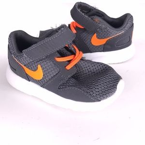Nike Gray & Orange Slipon Velcro Shoes SH0592